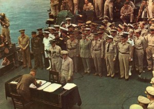 Japanese Surrender, USS Missouri - September 2, 1945